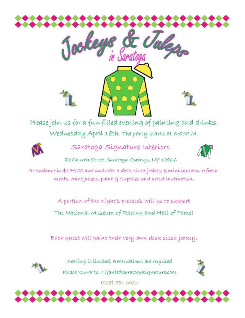 Jockeys and Juleps in Saratoga