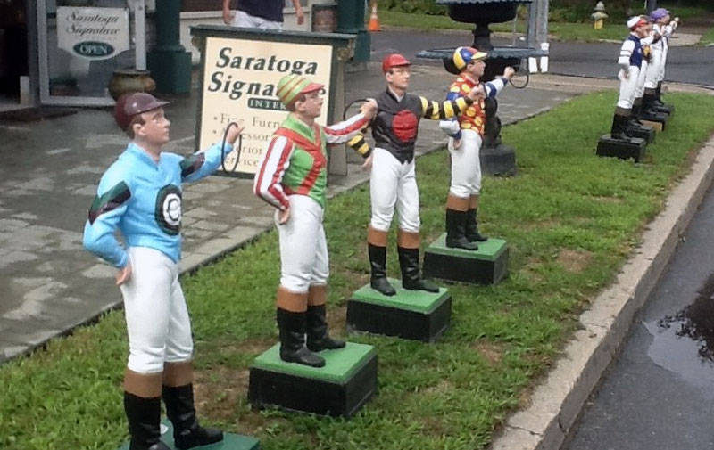 lawn jockeys out front saratoga signature