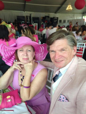 Nancy Smith & Daniel Czech enjoying the Brest Cancer Luncheon.