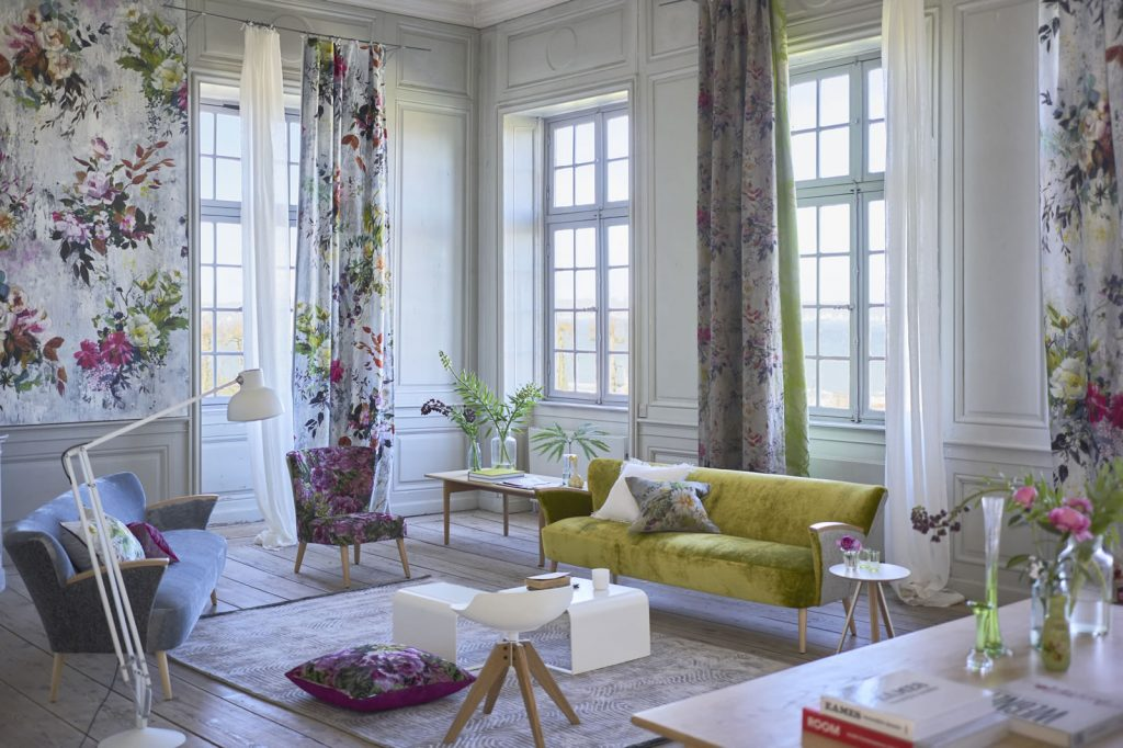 Photography Courtesy of Designers Guild. Floral Prints Available at Saratoga Signature Interiors.